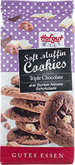Thumbnail Soft Muffin Cookies Triple Choc